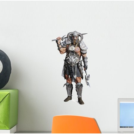 Fierce Armored Barbarian Warrior Wall Decal Wallmonkeys Peel and Stick Decals for Boys (12 in H x 9 in W) WM502623