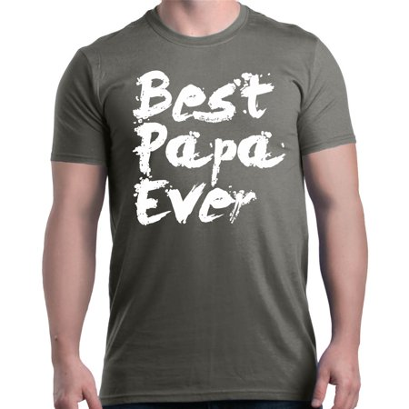 Shop4Ever Men's Best Papa Ever Paint Font Father's Day Graphic