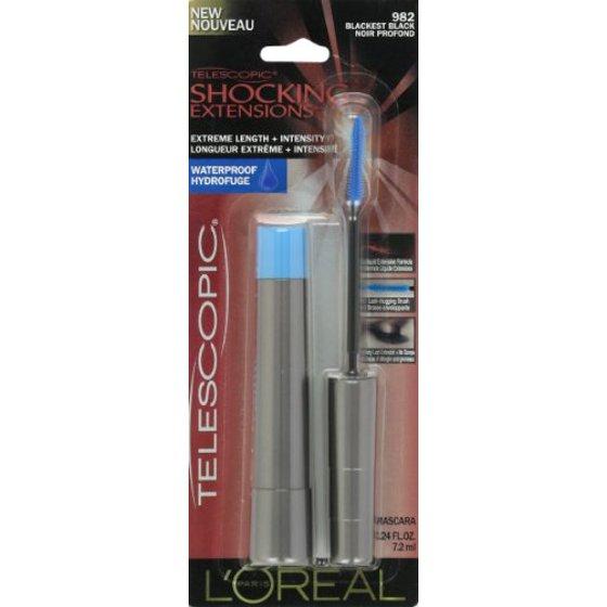 9c70682c71a L'Oreal Loreal Telescopic Shocking Extensions Mascara, 0.24 oz - Walmart.com