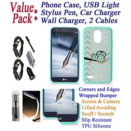 "Value Pack + for 5.7"" LG Stylo 3 K10 PRO Stylo3 +PLUS Case Phone Case Bounce Corner Edge Shock Slip Scratch Shield Grip Wrap Slim Cover Owl Sleepy"