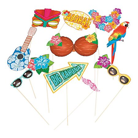 Luau Photo Stick Props (12 Pack) - Props On Sticks