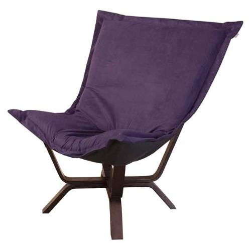 Puff Chair in Bella Eggplant