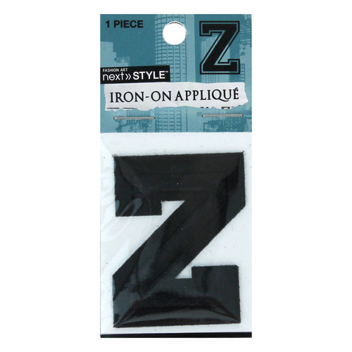 "Next Style Single Embroidery Letter, ""Z"", Black"