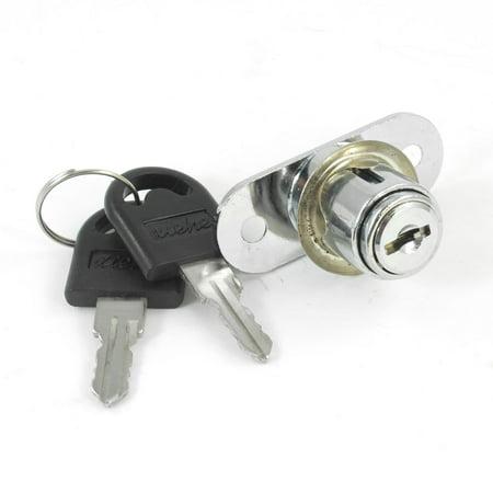 Ton argent métal Bo te à outils Meubles Cabinet Lock w 2 Clés - image 1 de 1