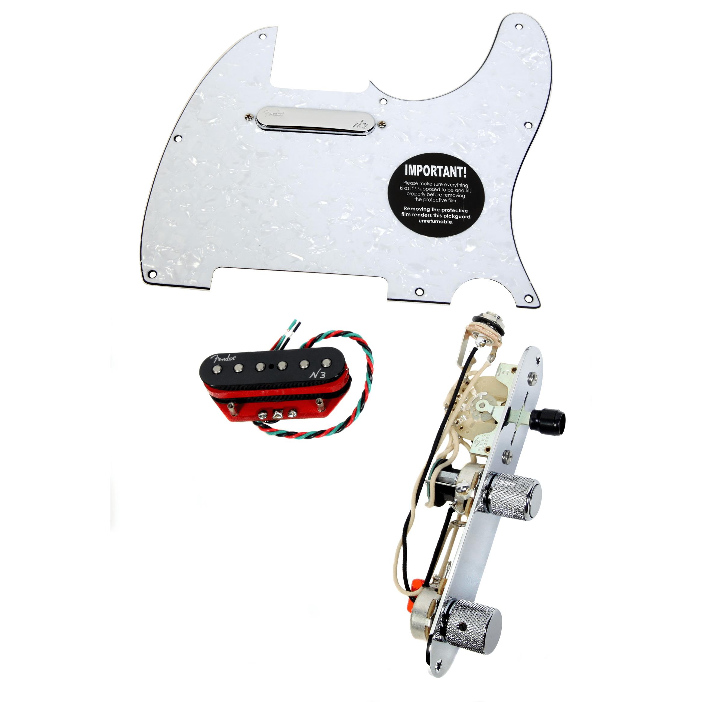 920D Tele Loaded Pickguard Fender N3 Noiseless Pickups w S1 Switch WP by