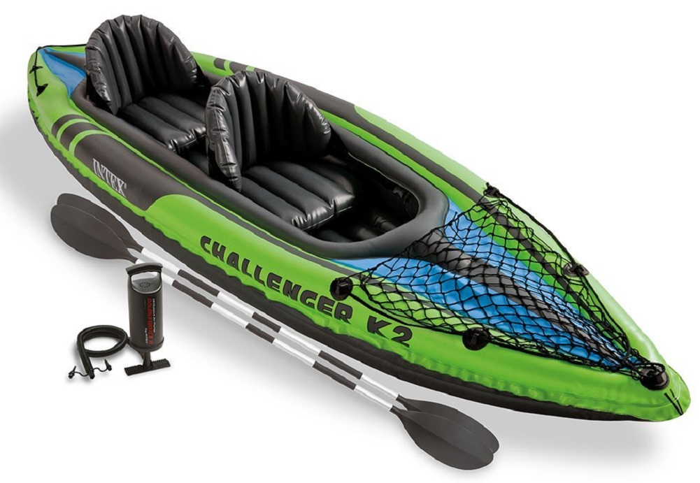 Intex Challenger K2 Kayak, 2-Person Inflatable Kayak Set with Aluminum Oars a... by Intex