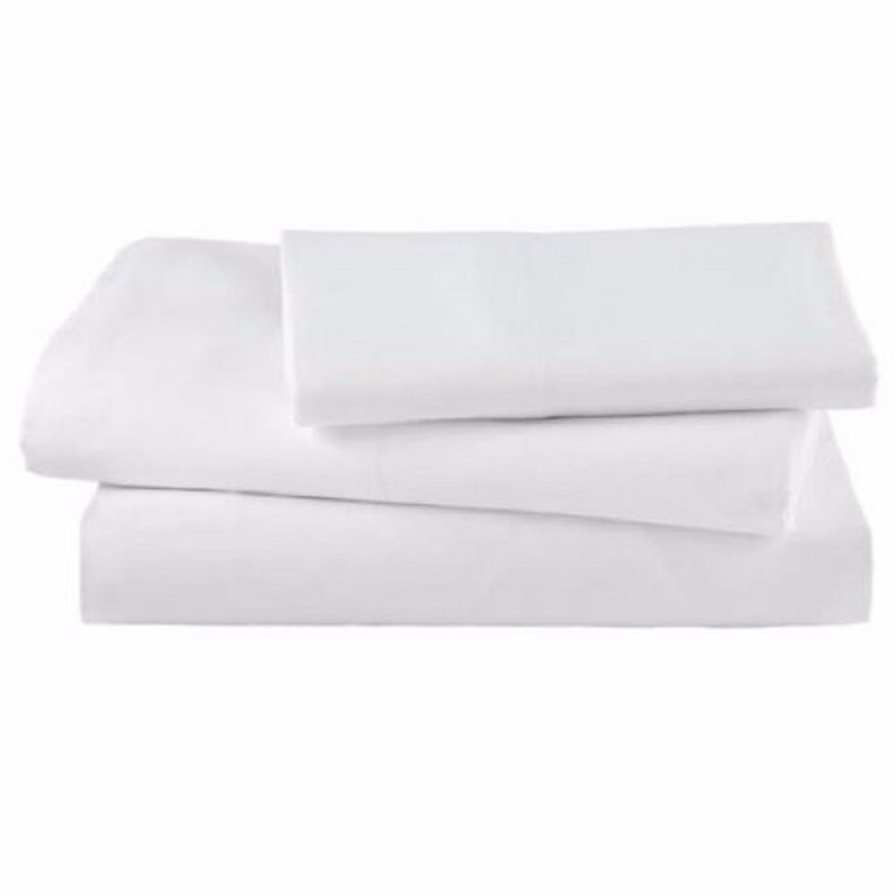 Twin Flat Draw Sheets 180 Thread Count Linteum Textile 12 54x90 in, White