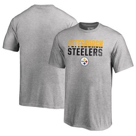 Pittsburgh Steelers NFL Pro Line by Fanatics Branded Youth Iconic  Collection Fade Out T-Shirt - Ash - Walmart.com c8e5b107c