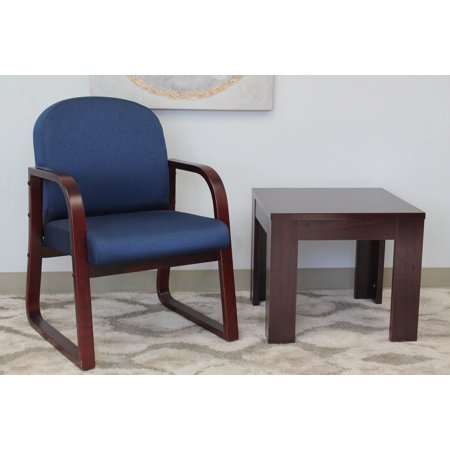 Boss Office Products Blue Sled Base Reception Chair
