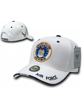 23145c58bb823 Product Image RapDom Air Force Military Mens Cap  White - Adjustable . Rapid  Dominance
