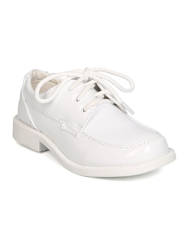 Boys Patent Leatherette Lace Up Dress Shoe GB30