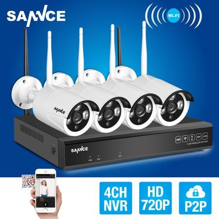 4Ch Wireless Cctv System 720P Hd Nvr Kit Outdoor Ir Night Vision Ip Camera Wifi Camera Kit Home Security System Surveillance Kit Hard Drive Capacity Is Optional  0 No Hdd 1 1Tb Hdd