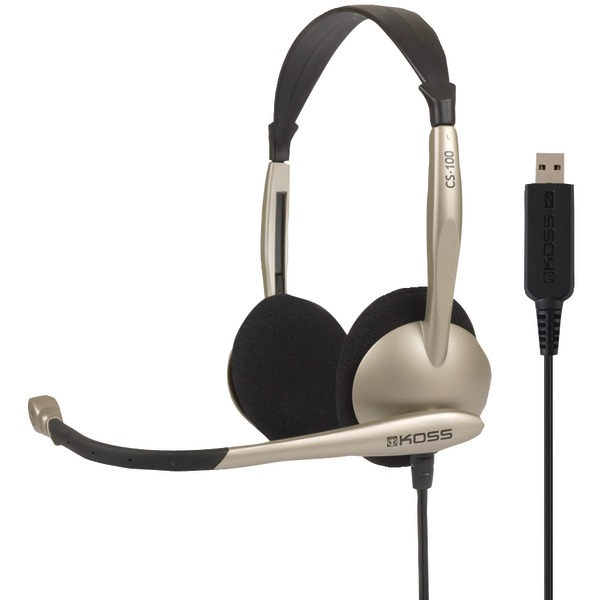 Koss 178188 CS100 USB On-Ear Over-the-Head Stereophone Headset