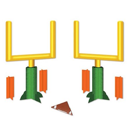 Pack of 24 3-Dimensional Football Goal Post Table Top Centerpiece Party Decorations 11