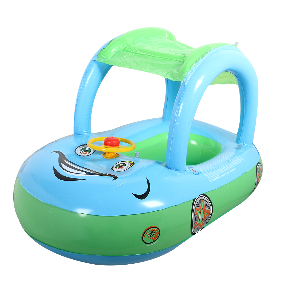 Cute Baby Float Seat Boat with Inflatable Ring Cartoon Car Swim Boat Pool Ring Seat With  sc 1 st  Walmart & Cute Baby Float Seat Boat with Inflatable Ring Cartoon Car Swim ...