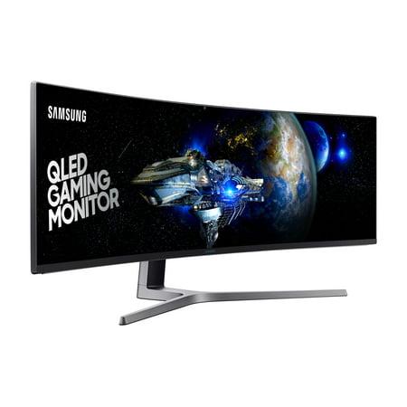 SAMSUNG 49u0022 Class Curved Widescreen Dual HD (3840 x 1080) 144Hz 1ms FreeSync2 Gaming Monitor - LC49HG90DMNXZA