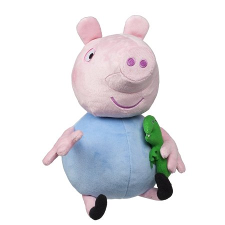 Hug N Oink George Plush  George Makes Fun Oinks  Giggles  Phrases And Songs By Peppa Pig