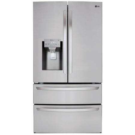 LG LMXS28626S 28 Cu. Ft. 4-Door French Door Refrigerator - Stainless Steel