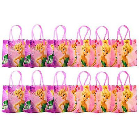 12PCS Disney TinkerBell Goodie Party Favor Gift Birthday Loot Bags Licensed - Tinkerbell Party Favors