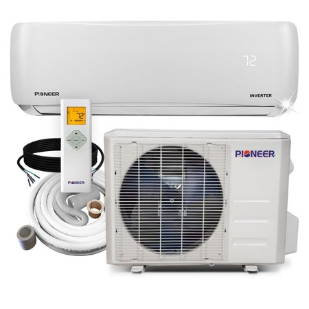 PIONEER Ductless Mini Split Inverter Heat Pump System. 9,000 BTU/h, 110-120V, 17.0 SEER Heat Pump Efficiency