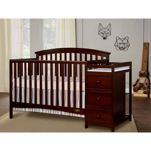 Dream On Me Niko 5 in 1 Convertible Crib with Changer, Espresso