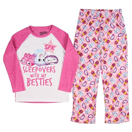 Girls Sleepover Set - Intimo Shopkins Girls' Sleepover With Besties 2-Piece Pajama Set