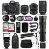 Nikon D7100 DSLR Digital Camera + 18-55mm VR II + 6.5mm Fisheye + 55-300mm VR + 420-1600mm Lens + Filters + 128GB Memory + Action Stabilizer + i-TTL Autofocus Flash + Backpack + Case + 70  Tripod