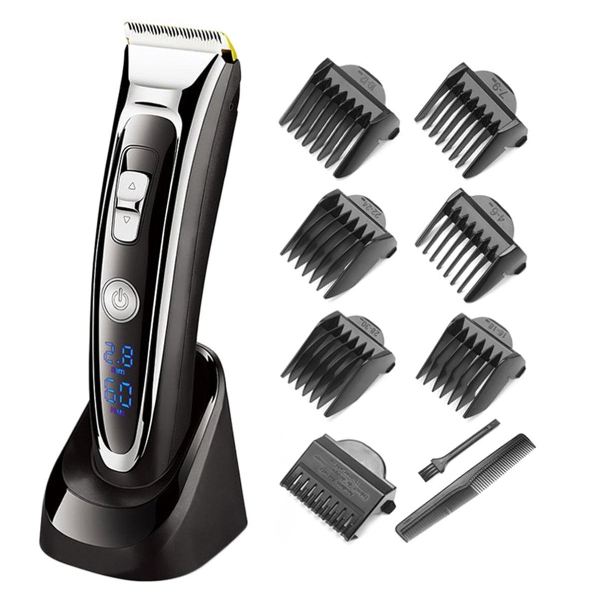 12in1 Men Electric Hair Clipper Recharge LED Display Beard Trimmer Shaver Razor Ceramic Blade