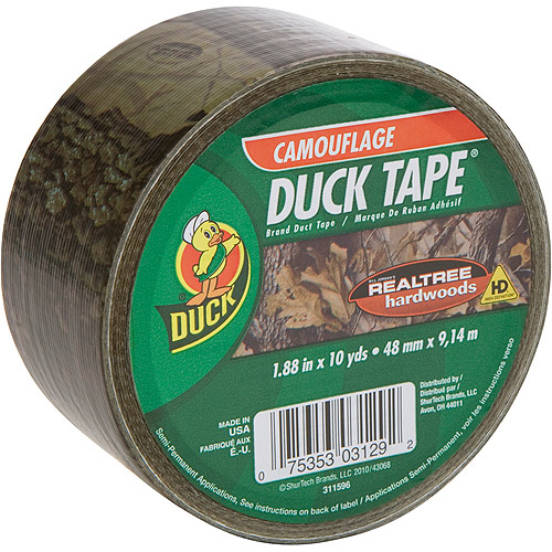 "Duck Brand Duct Tape, 1.88"" x 10 yard, Realtree Camo"