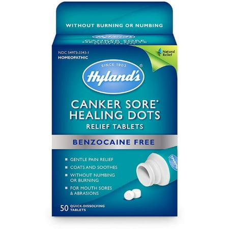 2 Pack - Hyland's Canker Sore Treatment, Natural Pain Relief of Mouth Ulcers and Oral Irritation, Healing Dots
