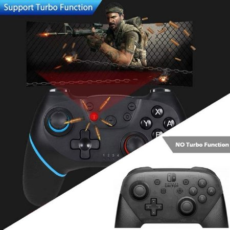 Wireless Controller for Nintendo Switch Pro,Remote Controller Gamepad Joypad for Nintendo Switch Console w/ Gyro Axis, Turbo Dual Vibration - image 8 of 9