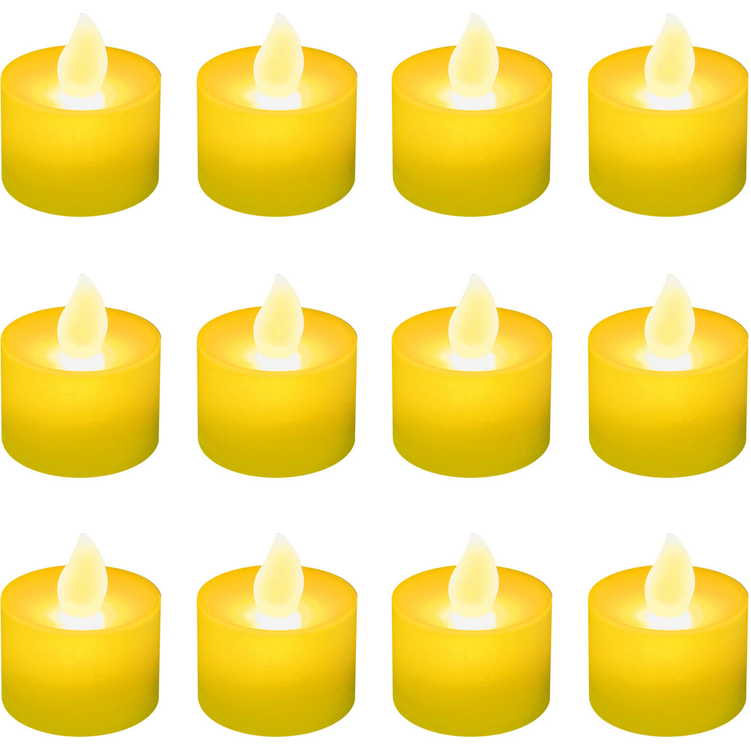 LumaBase Luminarias Battery Operated LED Tea Light Candles, 12 Count