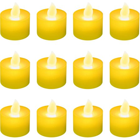 LumaBase Battery Operated LED Tea Light Candles, 12 Count](Battery Tealight)