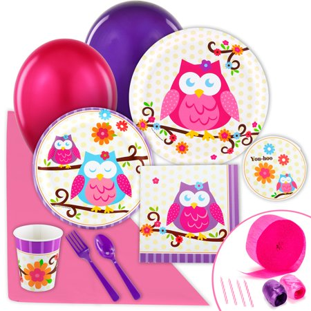 Owl Blossom Value Party Pack - Owl Themed Party