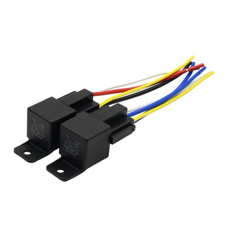 DC 48V 40A SPST Auto Car Relay 4 Pin 4 Wires with Harness ...  Pin Dpdt Relay Interlock Wiring on 8 pin 24vdc relay, 8 pin octal relay, 8 pin latching relay, dayton 8 pin relay, 8 pin ac relay,