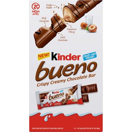 Kinder Bueno Crispy Creamy Chocolate Bar 20 Pack Kinder Bueno Candy
