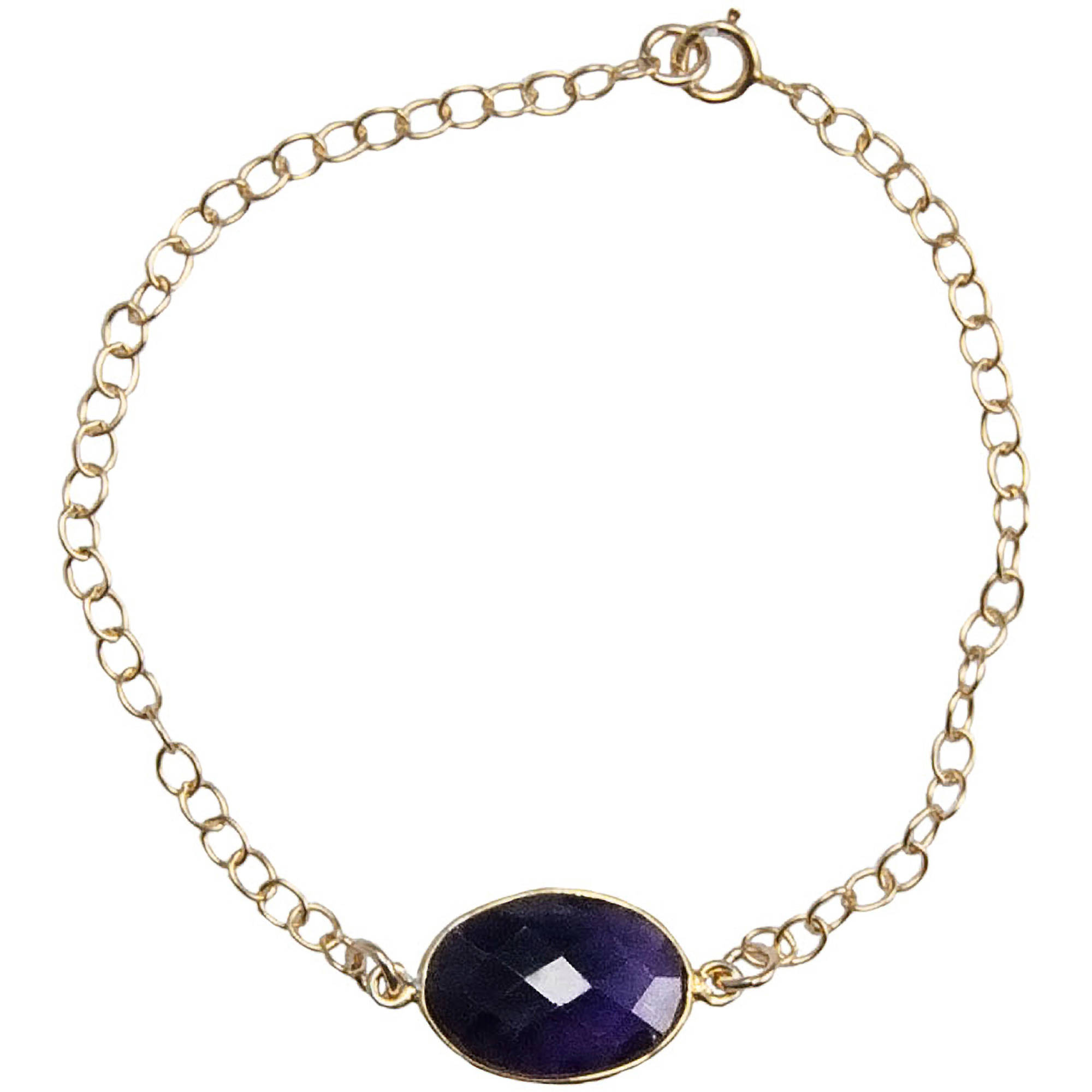 Miss Zoe by Calinana Gold Filled Gemstone Bracelet, Purple