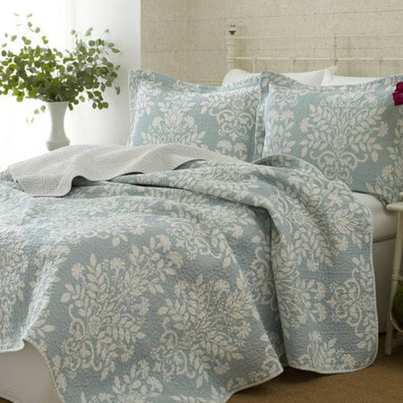 Laura Ashley Rowland Blue Quilt Set, Twin ()