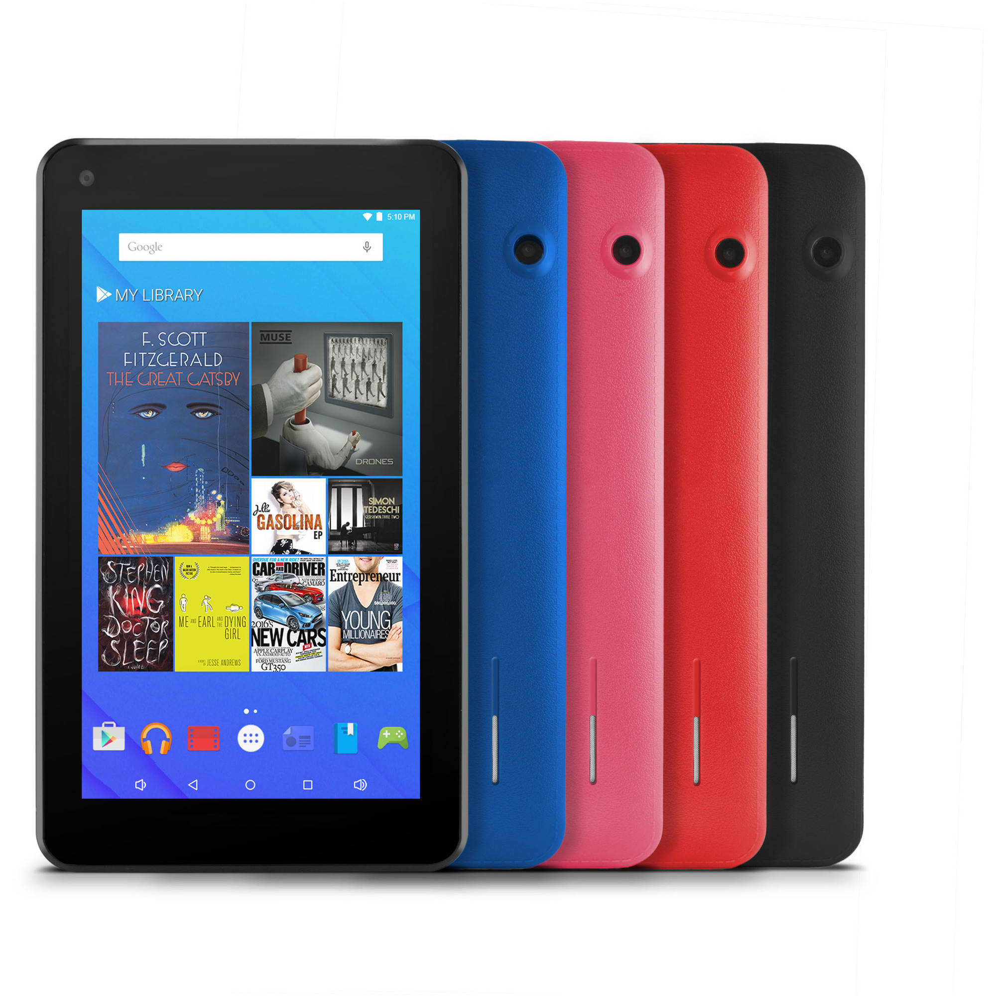 Ematic EGQ377 with WiFi 7 Touchscreen Tablet PC Featuring Android 5.1 (Lollipop) Operating System