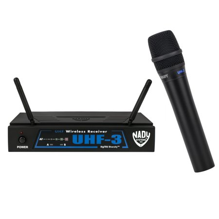 - Nady UHF-3 Wireless Handheld Microphone System with True Diversity