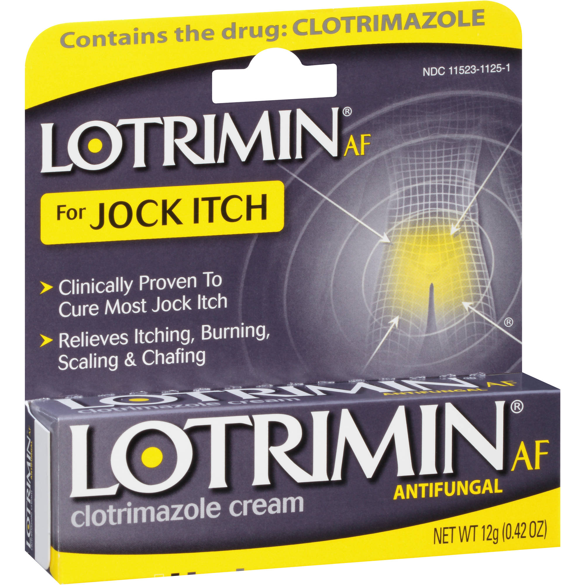 Lotrimin AF for Jock Itch Antifungal Clotrimazole Cream, 0.42 oz