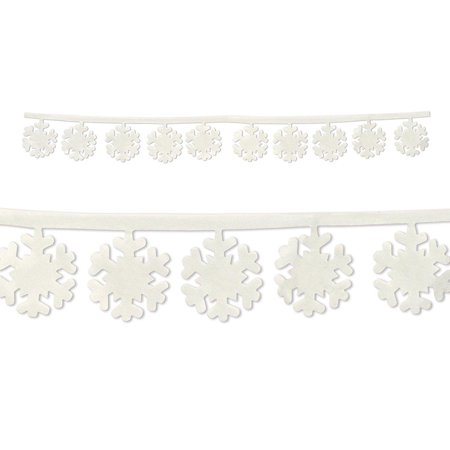 20366 Fabric Snowflake Garlands, 3-Feet 11-Inch, This item is a great value By - Snowflake Items