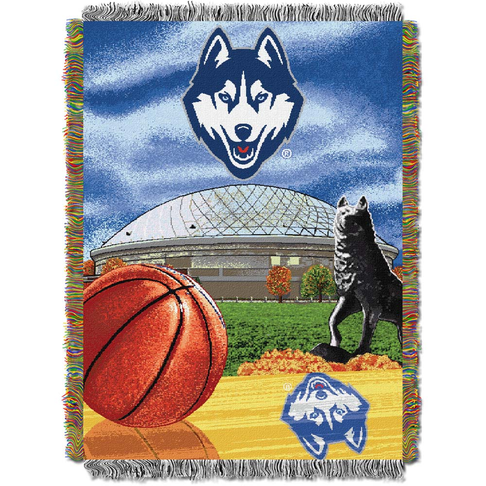 """U Conn OFFICIAL Collegiate, """"""""Home Field Advantage"""""""" 48""""""""x 60"""""""" Woven Tapestry Throw by The Northwest Company"""