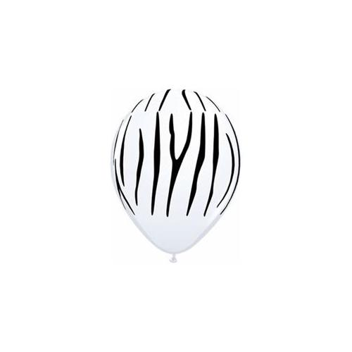 Mayflower Balloons 9444 11 Inch Zebra Stripes Latex Pack Of 100