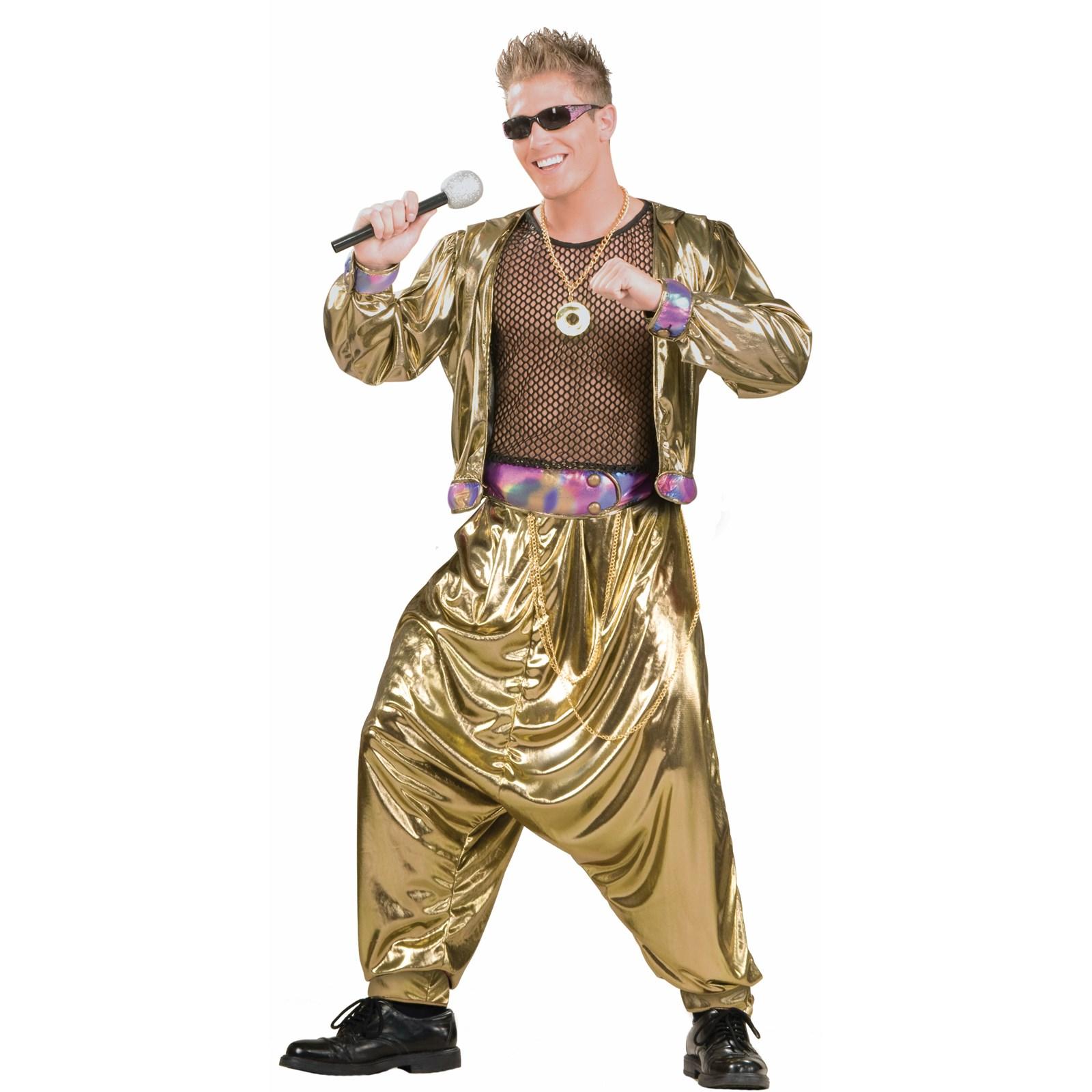 Video Super Star 80s Men's Costume