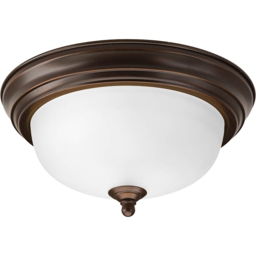 "Progress Lighting P3924-ET Dome 11"" Wide Single Light Flush Mount Ceiling Fixture with Bowl Shade"