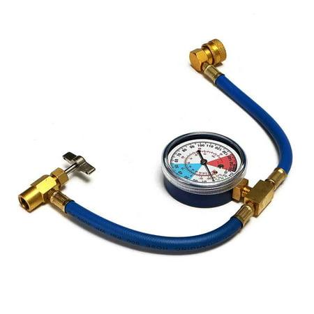 - Car Auto Air Conditioning AC R134A HVAC Refrigerant Recharge Measuring Hose Gauge Valve