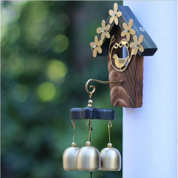 Love Nest Vintage Brass Hanging Wind Chimes Hanging Metal ...