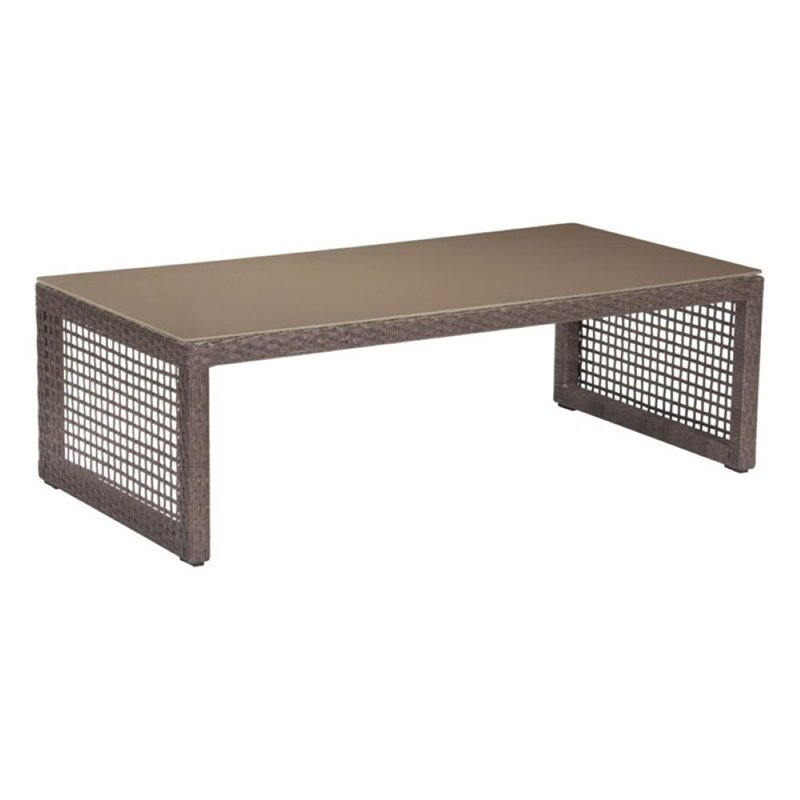 Brika Home Patio Coffee Table in Cocoa by Brika Home