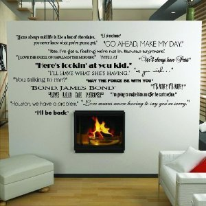 Classic Movie Quotes wall saying vinyl lettering home decor decal stickers quotes